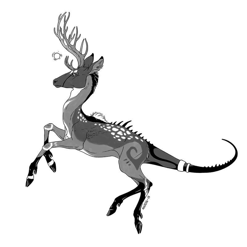 Strange deer by Anisis
