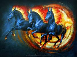 Fire horses