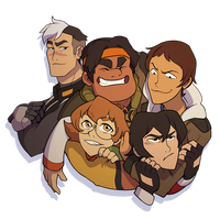 Voltron Group Hug by Numbird