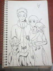 Uzumaki Family, tribute to Naruto - Ink by CJHibari02