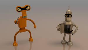 Bender and Roberto futurama