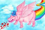 Happy Pink Hippo
