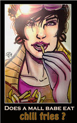 Jubilee - Does a mall babe eat chili fries? by FrozenDreamer