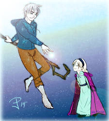 Jack and child Elsa by FrozenDreamer