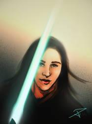 Jedi self portrait by FrozenDreamer