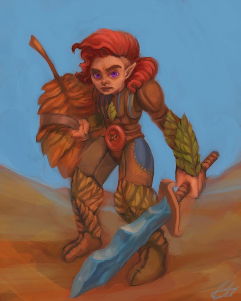 little warrior by IfuckenLUVWHORES