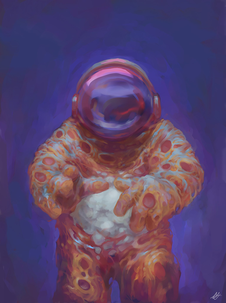 Astronaut pizza by IfuckenLUVWHORES
