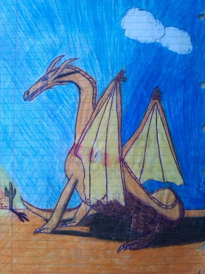 desert_dragon__old_drawing__by_dragonmag