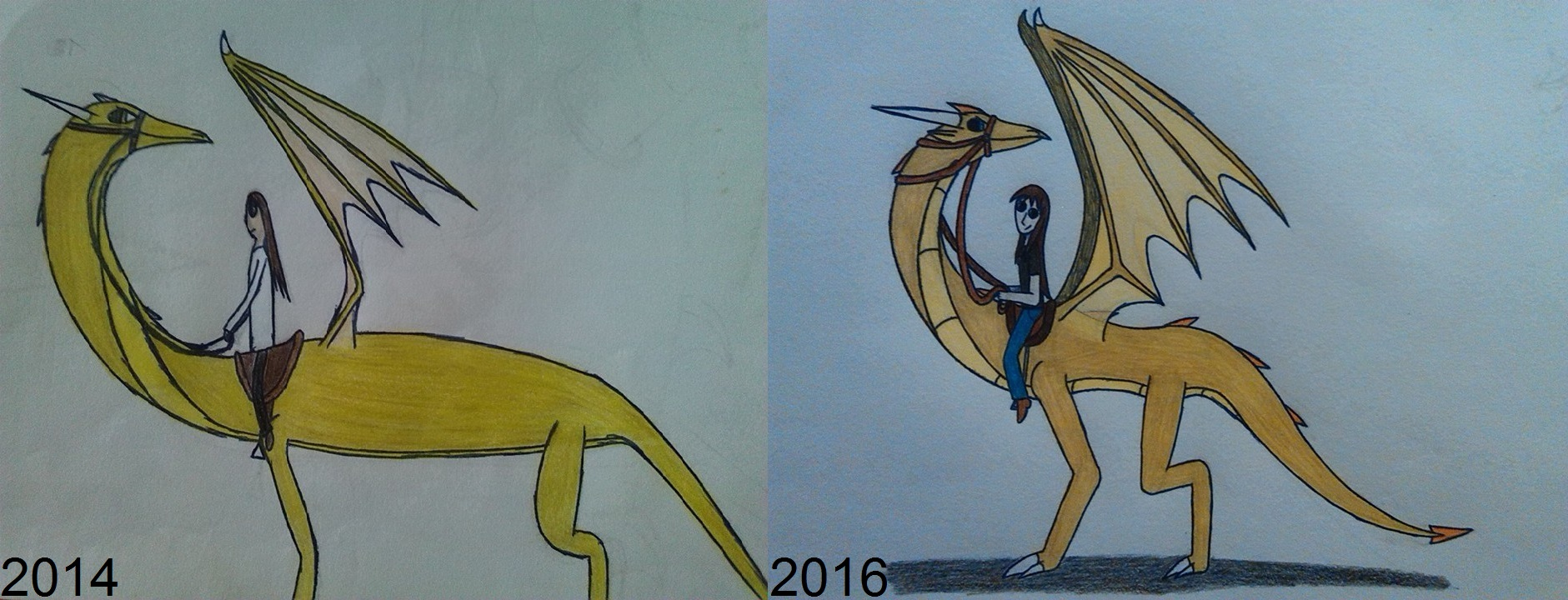 drawing_comparison__dragon_rider_by_drag