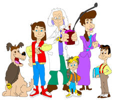 Animated Marty McFly and the Brown Family by ShaneALF1995