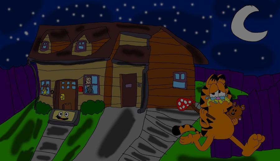 Garfield Runs Away By Shanealf1995 On Deviantart