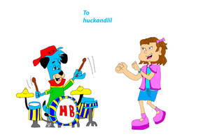 Teen Huckleberry Hound playing the Drums for Lil by ShaneALF1995