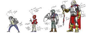 Marvel Fan redesigns sketch