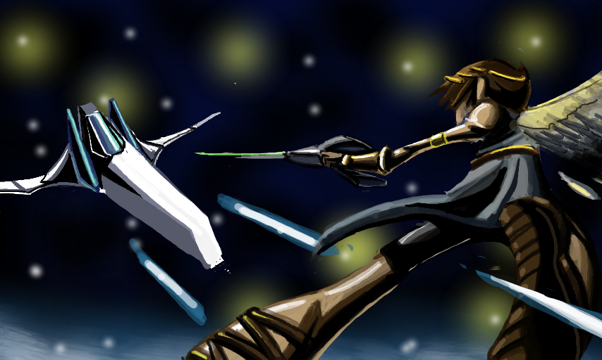 Kid Icarus vs. Star Fox by SkipperWing