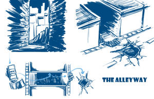 Environment Concept Design: The Alleyway by SkipperWing
