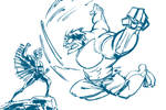 DSC: Hulk vs Black Bolt