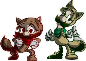Super Doodle 3DLand: We have tails... by SkipperWing