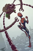 The Amazing Doodle-Man: Ock vs. Spidey by SkipperWing