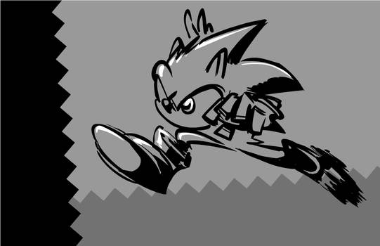 Sonic the Hedgehog: Grayscale by SkipperWing