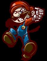 Mario Tornado! - Smash bros Collab. - Smash bros. by SkipperWing