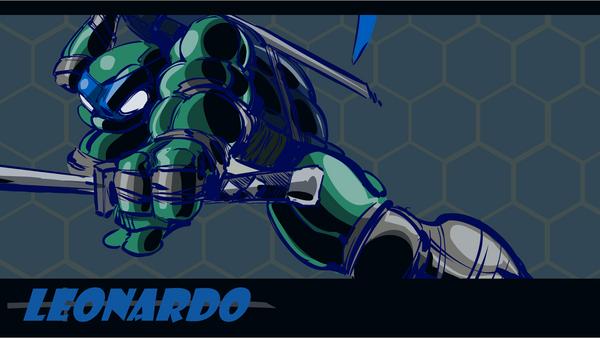 Fan Art (TMNT): Leader in Blue by SkipperWing