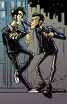 Fan Art (Doctor Who/Lupin 3rd): Action Suit Bros! by SkipperWing