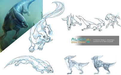 Alien Dog ~ Swim swim
