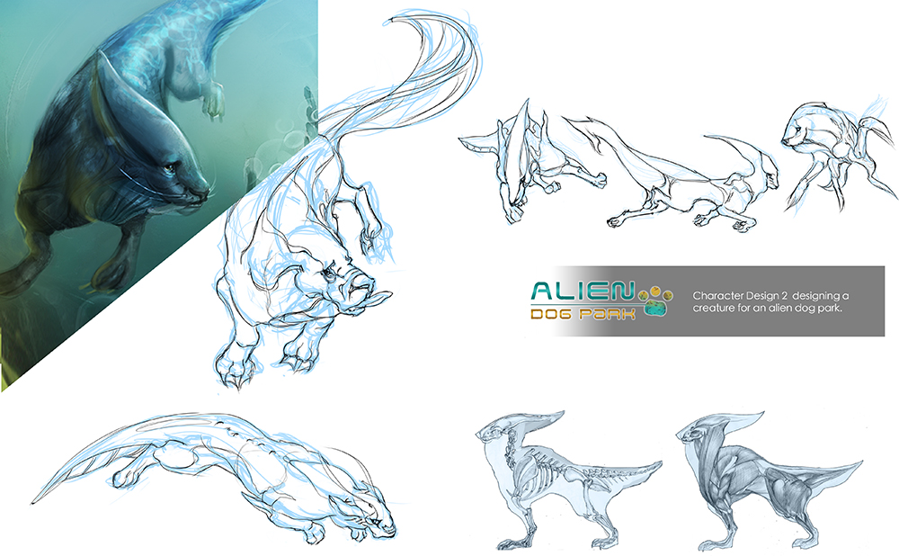 Alien Dog ~ Swim swim by indikate