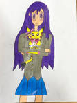Yuri (Ddlc) and Cake the Pop Star Pikachu