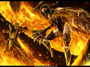 Scorpion VS Kitana