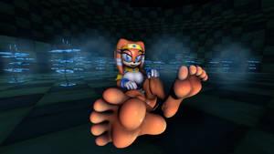 Tikal barefoot.
