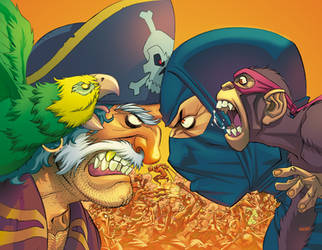 Pirates Vs Ninjas Annual cover by Roboworks