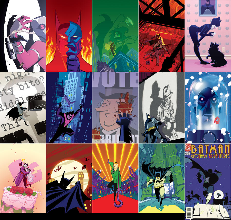 Batman Adventures Covers by Roboworks