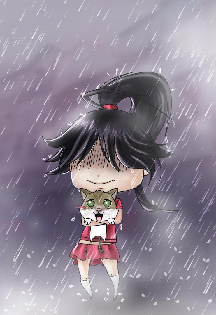 A rainy-day company by Mami02