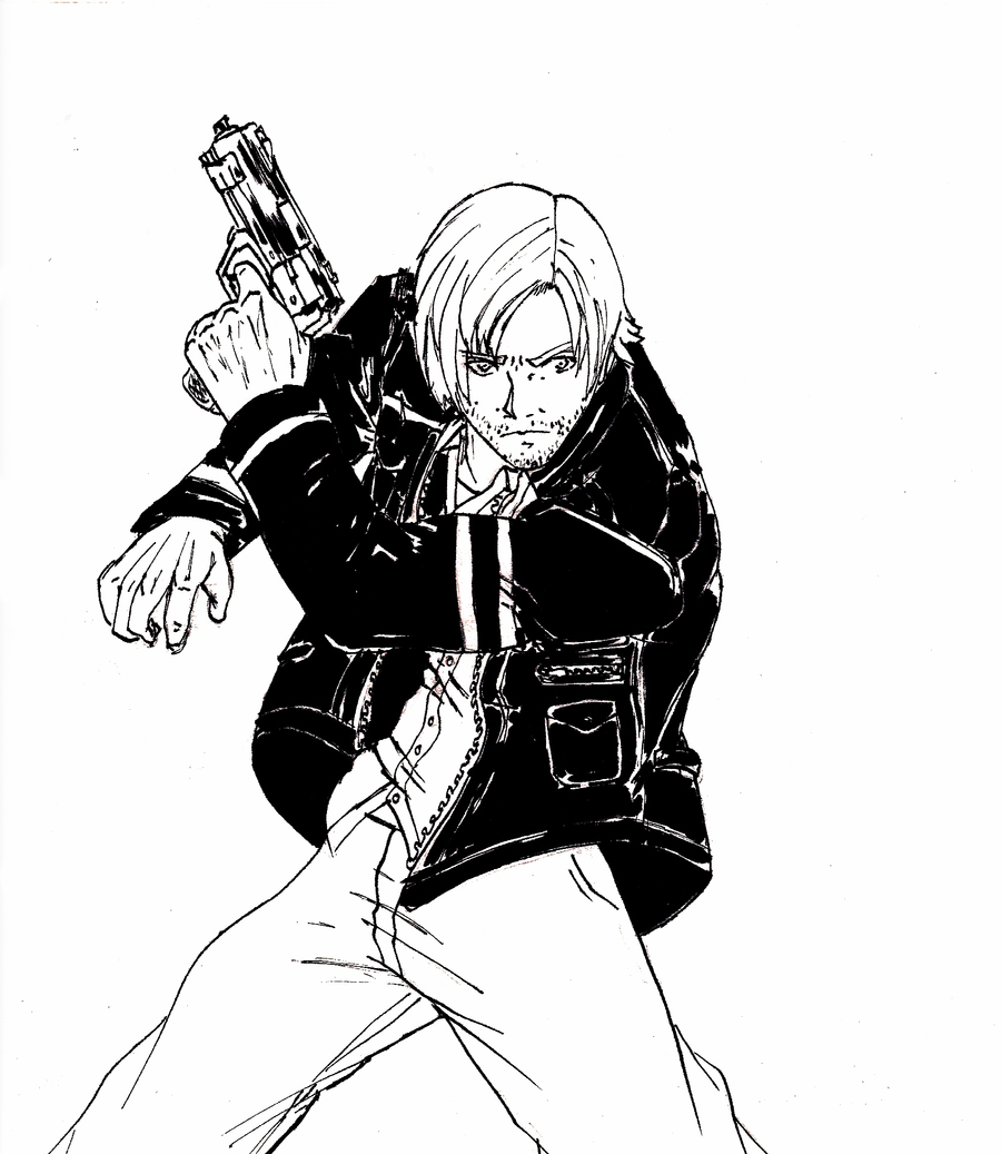Mr. Black, Gotta add some to the title. Leon_s__kennedy_by_knight_alui-d4o426o