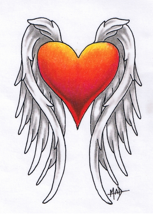 Heart Tattoo Designs With Wings Winged Heart Tattoo by