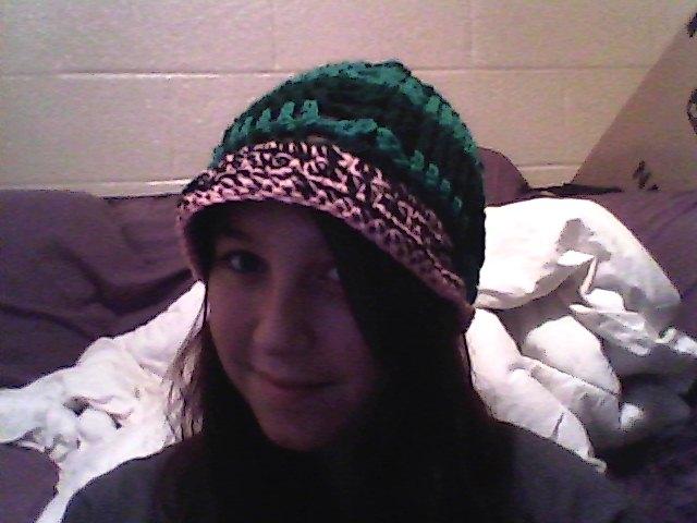 Watermellon Hat!!! :3 Beanie w/brim by OnlyWithButter