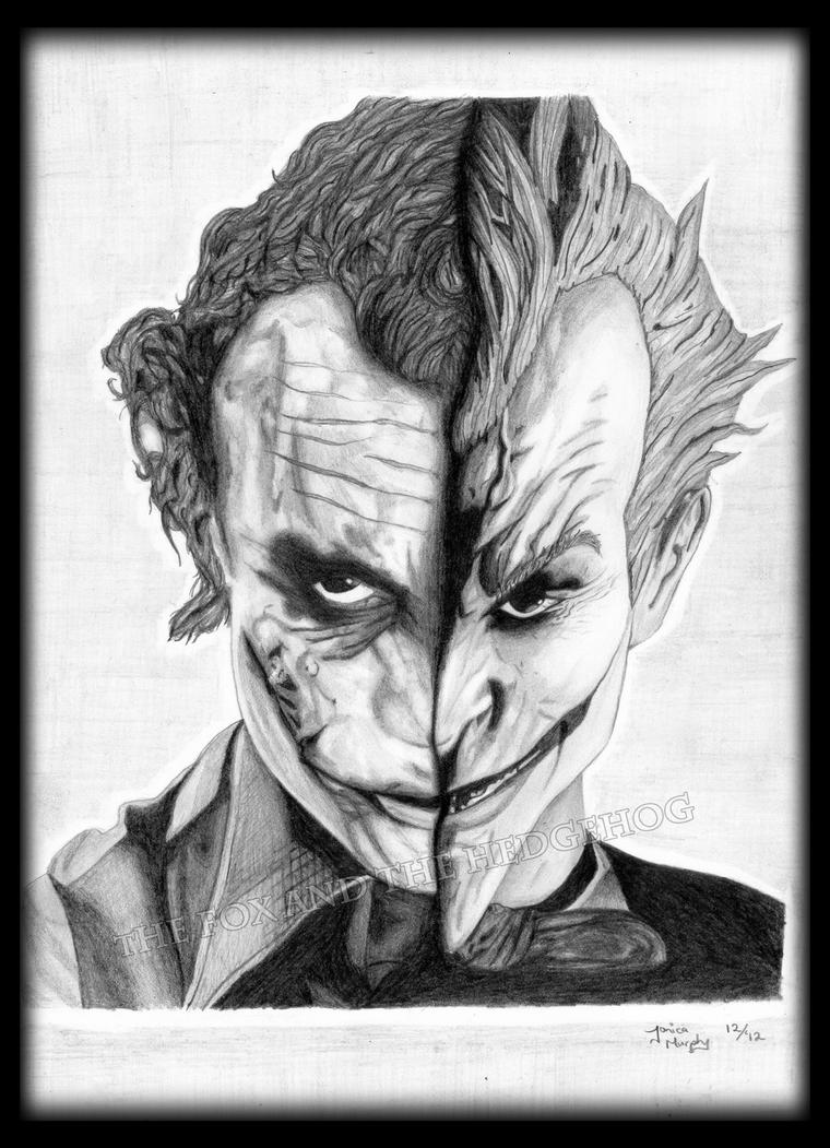 Joker's from the Dark Knight and Arkham Asylum! by TheJinMu