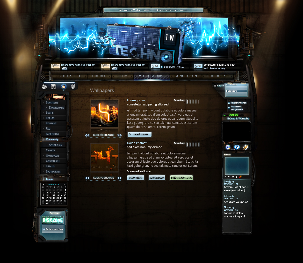 webradio template by xphan on deviantart