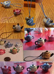 Poymer Clay Teapot Charms