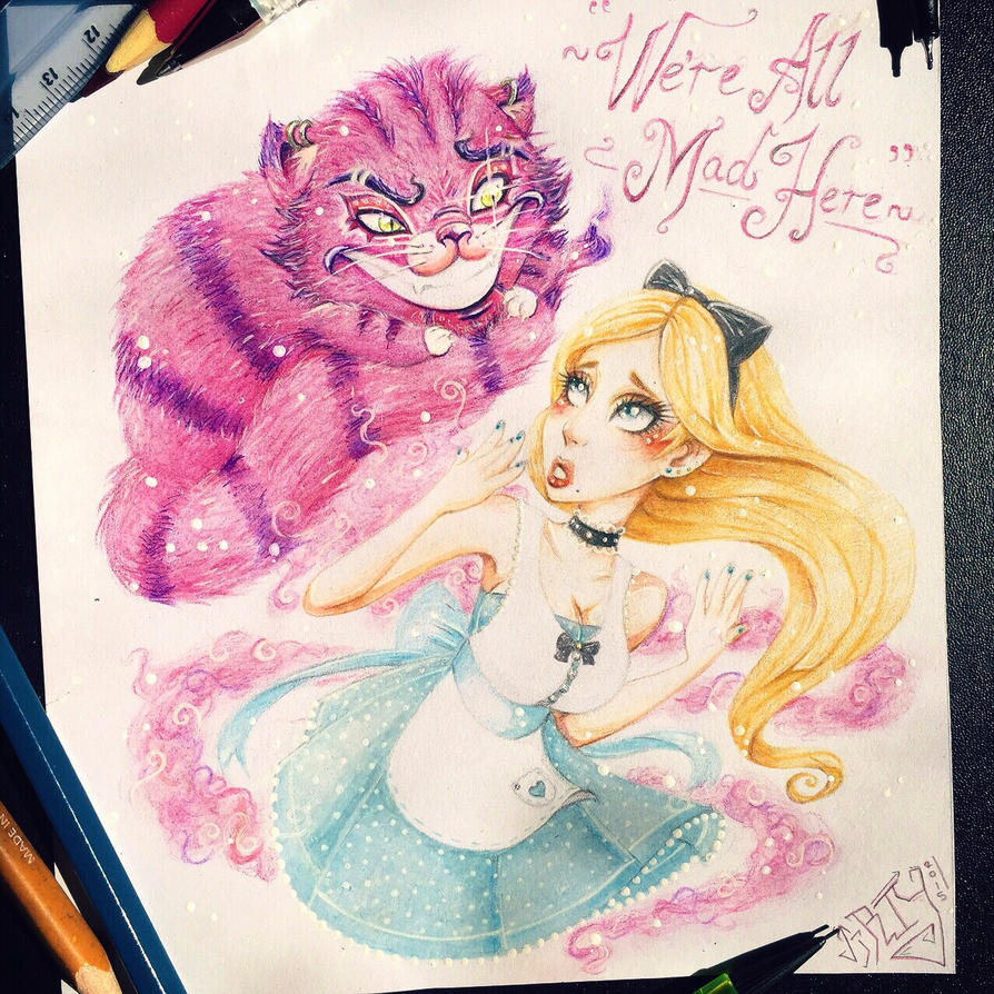 Alice in Wonderland  by TheLittleArtyThing