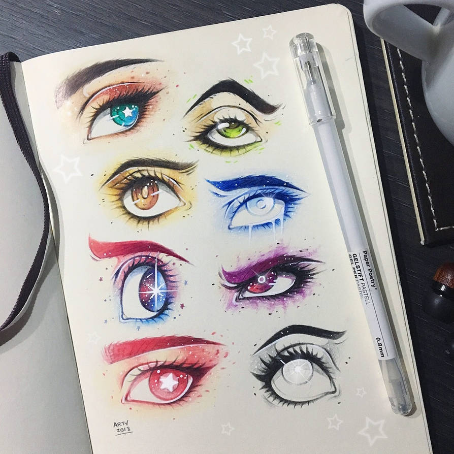 Crystal Gem Eyes by TheLittleArtyThing