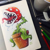 Piranha Plant by TheLittleArtyThing