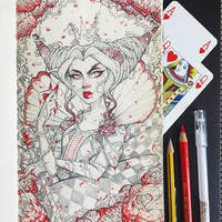 Queen of Hearts by TheLittleArtyThing