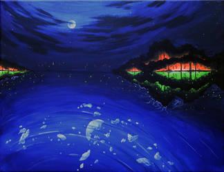 glow in the night by Cujiro