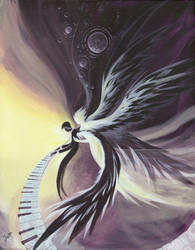 winged sadness by Cujiro