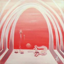 painting at sundown by Cujiro