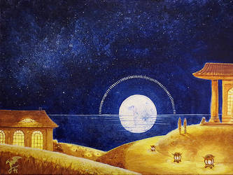 At full moon by Cujiro