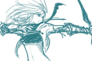 Archer [Sketch Request] by Gekigengar