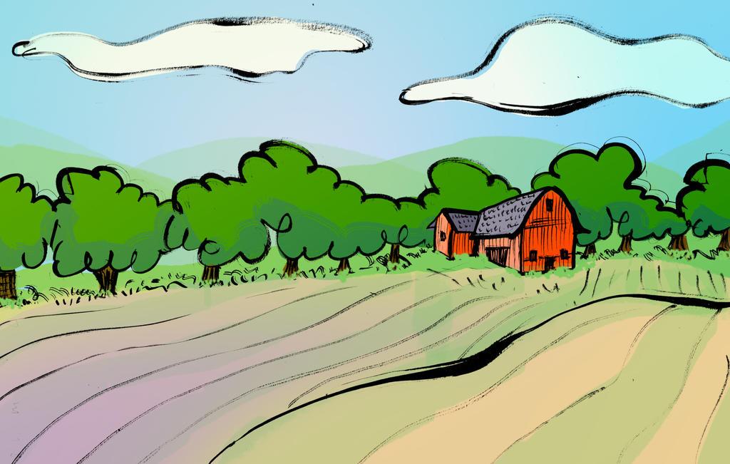editorial illustration - farm by ungoth